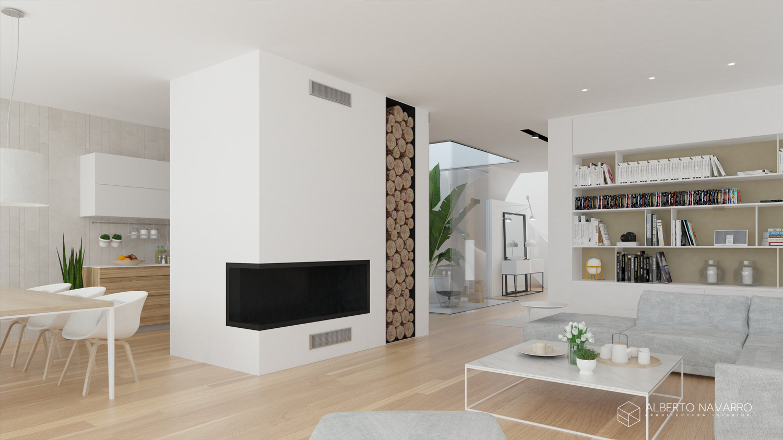 Proyecto de vivienda entre medianeras massarrojos - Vivienda unifamiliar entre medianeras ...